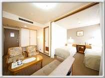 ツインルームの約2倍の広さを持つ、デラックスツインルームです。