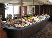 特別階専用パシフィックラウンジでの朝食ブッフェ