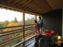 絶景の眺望をご覧下さい☆天然温泉100%露天風呂付特別室【白樹】
