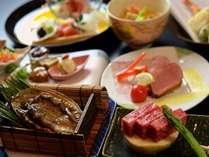 ◆じゃらん限定【活あわび&和牛W焼き】十人十色の香味が広がる♪自家製・合鴨ローストも/お部屋食