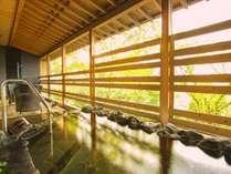 【659号室・天磐~てんばん】岩の浴槽。天然温泉100%露天風呂付客室◆モダンリビング付特別室の一例