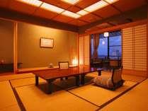 【祥山・祥山特別室の客室一例】源泉100%かけ流し半露天風呂付客室