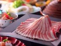【黒豚と能登豚のメガ盛りしゃぶしゃぶ会席イメージ】お肉の味わいを食べ比べて、金箔海鮮丼で幸せ気分♪