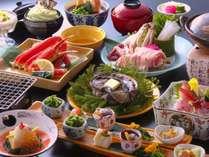【季節の華やぎ会席イメージ】お造り、能登豚鍋、活鮑&蟹。北陸ならではの味わい