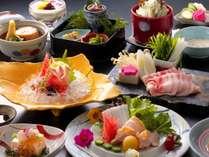 【健康志向のヘルシー会席イメージ】能登豚・甘鯛・地元野菜など体に優しい食材をバランス良く