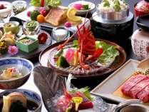 【萬松閣デラックス会席 イメージ】■造り前菜5種盛・伊勢海老・甘鯛・和牛・季節替りご飯など