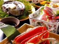 【季節の華やぎ会席イメージ】お造り、能登豚鍋、活鮑&蟹。北陸ならではの味わい1