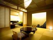 ◆2018年8月リニューアル【679号室・耀々~きら】大理石の浴槽。露天風呂付・和洋デラックスの一例