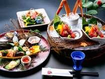 ■石川県産ブランド【極上加能蟹2人で3杯使用】■刺身・しゃぶ・焼き・丸ごと蒸し!香箱蟹や11種の前菜も