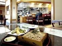 併設のそば処らくすい、朝食付きでお泊まりのお客様はこちらでお食事はいかがでしょう?