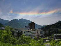 桃源の空にキレイな虹が。