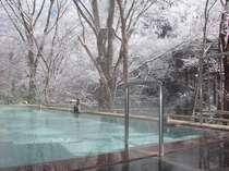 冬・混浴野天風呂