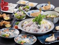 夕食:福ふくコース