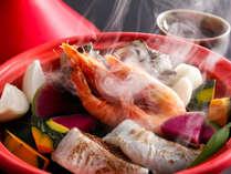 魚介と島育ち野菜のバプール(夕食イメージ)