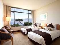 三河湾と竹島を眺めるツインルーム