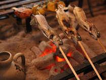 ◇岩魚を釣って焼く!囲炉裏で食事プラン(2・3名様)