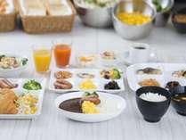 朝食無料サービス洋食中心 オリジナルカレーもありますよ♪
