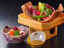 前菜の一例(新鮮野菜とお手軽バーニャカウダー)