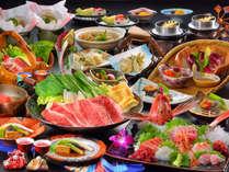 松葉や御膳:全11品。いずれも調理長こだわりの厳選素材を活かしたお料理です。