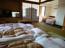 お布団を敷けば最大7名様まで宿泊できます
