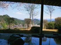 【露天風呂-春-】露天風呂に入りながら眺める桜と北アルプスは最高です!