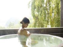 """""""無料""""貸切風呂『天の川』新緑の景色をゆったりとお楽しみください"""