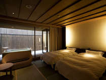 【富士見台/専有露天風呂ツイン】和のテイストを取り入れた室内(一例)