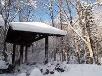 ◆ひがし大雪の寒さとぬかびらのお湯を楽しめる混浴露天風呂「仙郷の湯」