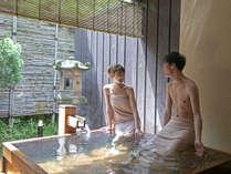 【貸切露天風呂 貫一の湯】良質の温泉は美肌効果抜群。たっぷりの温泉に癒されて下さい。