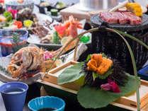 【周年祭感謝♪夏プラン】じゃらん限定割引きと夏季特典付き★ウニ&アワビの海鮮三昧と石焼ステーキ会席