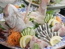 お皿いっぱいに盛られたお刺身は、まるで海の宝石箱☆