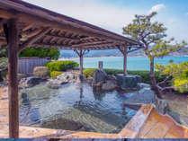那智の滝を遠望できる海辺の露天風呂「滝見の湯」~日中