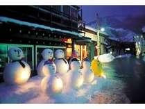 【2/6,2/12限定】★幻想的な祭典白峰雪だるままつり☆と地もとを感じる三大特典♪