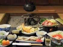 【夕食一例】永く地元に続く田舎のおふくろの味でおもてなし。