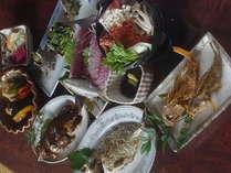 お魚中心のぜいもやの夕食漁師料理です。