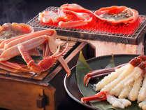 旨味たっぷり活ずわい蟹!3種の調理法「焼き・刺し・蒸し」で味わう蟹をご堪能ください♪