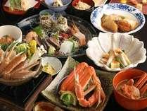 特選会席「四季彩」11月初旬~3月末頃まで松葉がに料理をお出しします。(冷凍がにになります)