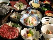 【四季彩】スタンダードなご夕食コースです。