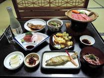 *お夕食一例/山形名物の「芋煮鍋」など、地元の味が楽しめる和食膳。