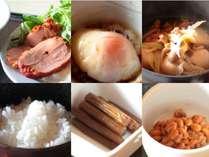 【温泉宿の和定食】ゆっくりと温泉で疲れを癒し目覚めの朝に美味しい朝ごはんをどうぞ♪