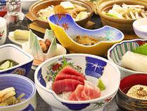 【矢野オリジナル膳】松前の旬の幸を調理長がこだわった御膳に仕上げました。