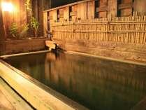 源泉かけ流しの展望露天風呂
