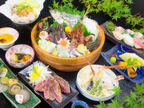 ◆瀬戸内会席~山海の幸をふんだんに使った会席料理。季節により内容は異なります。