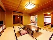 和室スイート◆応接室からは黒部川の雄大な流れを望めます。(定員6名)