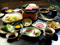 自然な味付けにこだわった田舎会席の一例。田舎の温かさ感じながら食べるご飯は格別です!