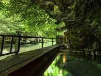 野趣溢れる天然の露天風呂で体験する透明度の高い新鮮な湯