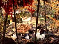 秋の「山の隠れ湯」