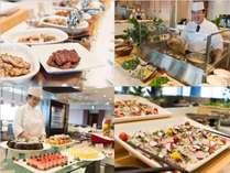ご夕食は和洋中120種類のブッフェ