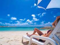 「美々ビーチいとまん」で日光浴