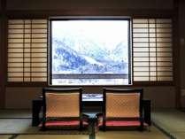 全室マウントビュー!窓からは外山、前白根山、五色山、金精山、温泉ヶ岳が見えます